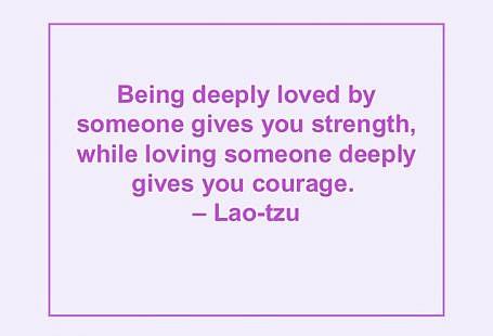 a iubi profund iti da curaj