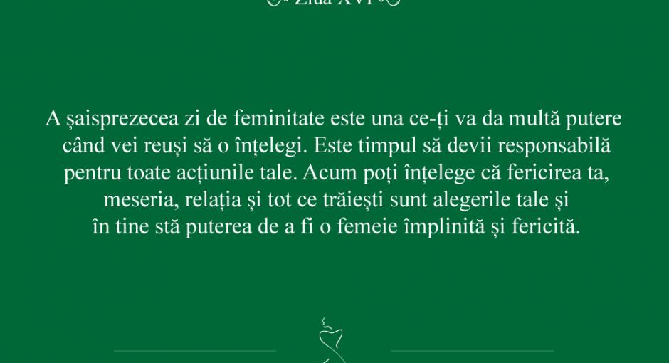 21 zile de feminitate